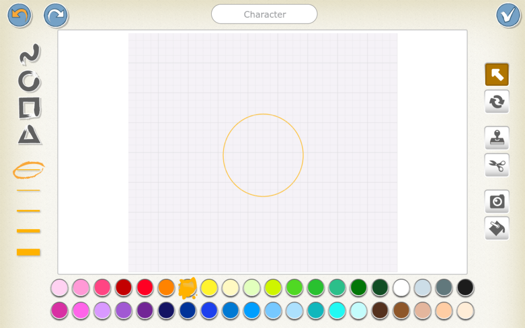 New ScratchJr character - orange circle