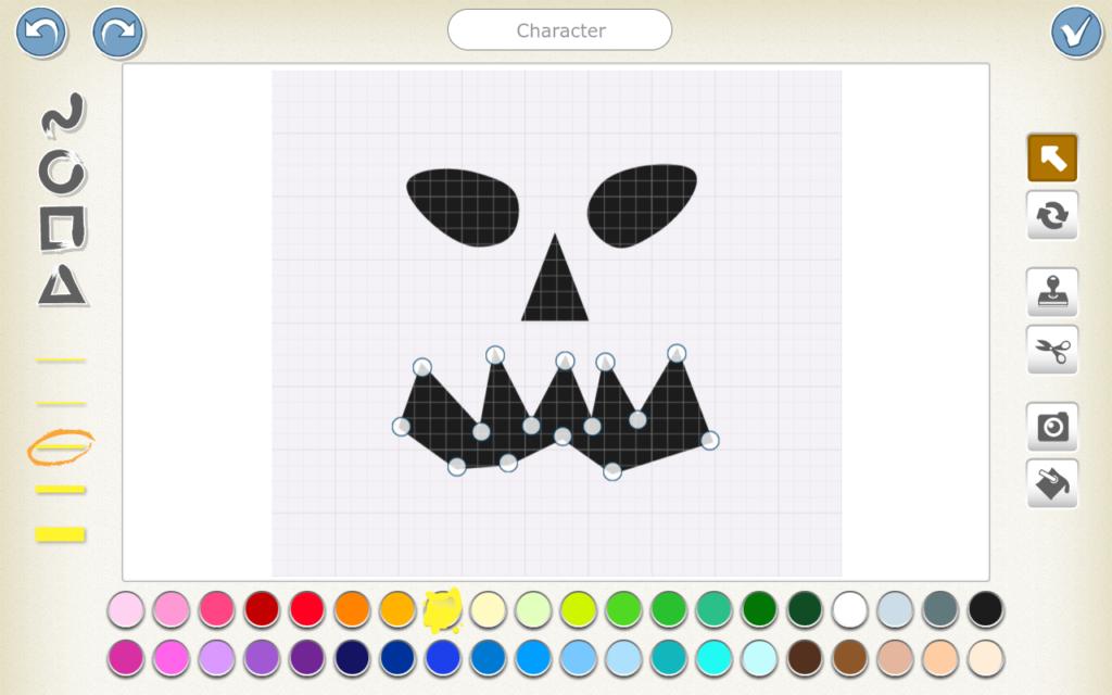 ScratchJr character - Halloween pumpkin scary face