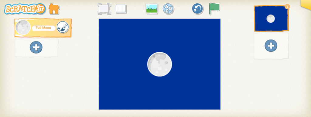 Scratch junior moon phases step 1