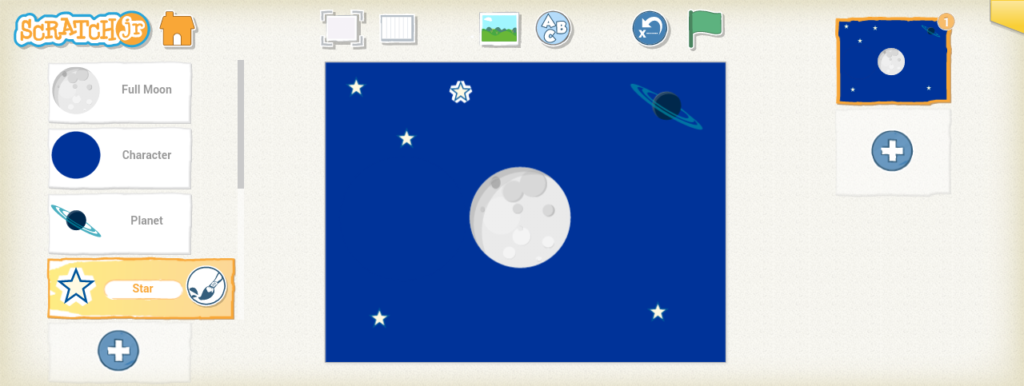 Scratch junior moon phases final touch
